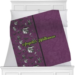 """Witches On Halloween Fleece Blanket - Queen / King - 90""""x90"""" - Double Sided (Personalized)"""