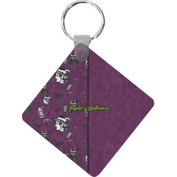 Witches On Halloween Diamond Key Chain (Personalized)
