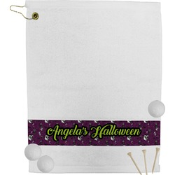 Witches On Halloween Golf Towel (Personalized)