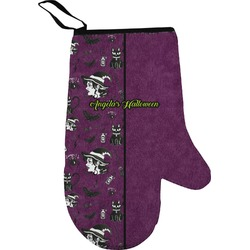 Witches On Halloween Oven Mitt (Personalized)