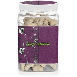 Witches On Halloween Pet Treat Jar (Personalized)