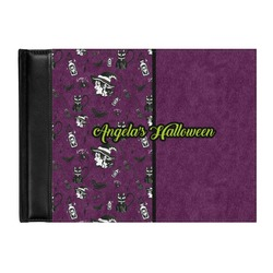 Witches On Halloween Genuine Leather Guest Book (Personalized)