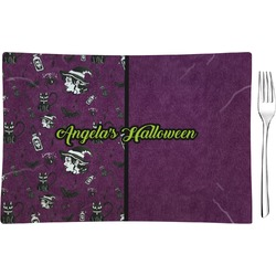 Witches On Halloween Glass Rectangular Appetizer / Dessert Plate - Single or Set (Personalized)