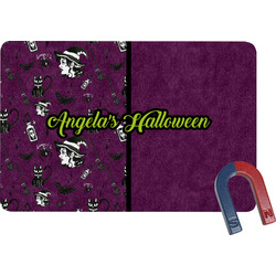 Witches On Halloween Rectangular Fridge Magnet (Personalized)