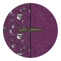 Witches On Halloween Round Decal (Personalized)