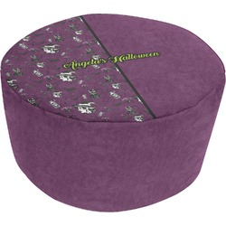Witches On Halloween Round Pouf Ottoman (Personalized)