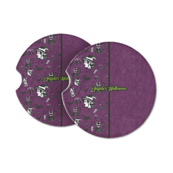Witches On Halloween Sandstone Car Coasters (Personalized)