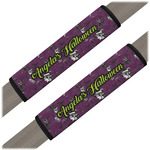 Witches On Halloween Seat Belt Covers (Set of 2) (Personalized)