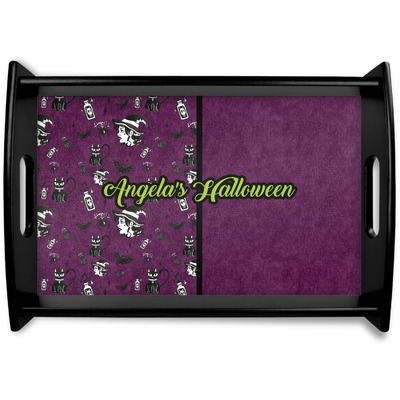 Witches On Halloween Wooden Trays (Personalized)