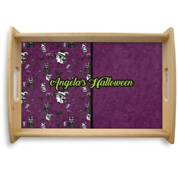 Witches On Halloween Natural Wooden Tray (Personalized)