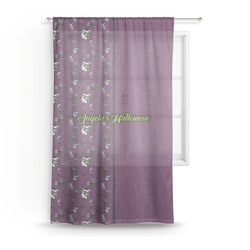 "Witches On Halloween Sheer Curtains - 60""x60"" (Personalized)"