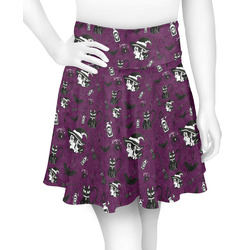 Witches On Halloween Skater Skirt (Personalized)