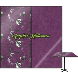 Witches On Halloween Square Table Top (Personalized)
