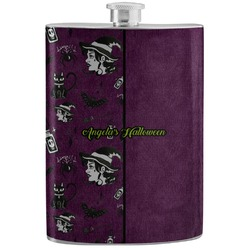 Witches On Halloween Stainless Steel Flask (Personalized)