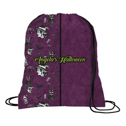 Witches On Halloween Drawstring Backpack (Personalized)