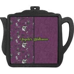 Witches On Halloween Teapot Trivet (Personalized)