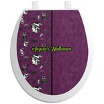 Witches On Halloween Toilet Seat Decal (Personalized)