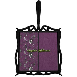 Witches On Halloween Trivet with Handle (Personalized)