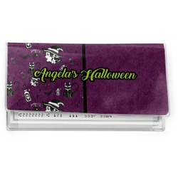 Witches On Halloween Vinyl Checkbook Cover (Personalized)