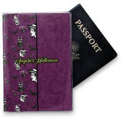 Witches On Halloween Vinyl Passport Holder (Personalized)