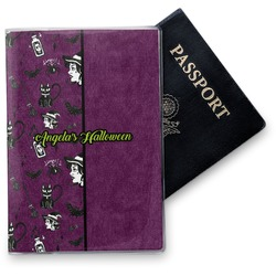 Witches On Halloween Vinyl Passport Holder (Personalized)