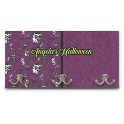 Witches On Halloween Wall Mounted Coat Rack (Personalized)
