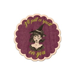 Witches On Halloween Genuine Wood Sticker (Personalized)