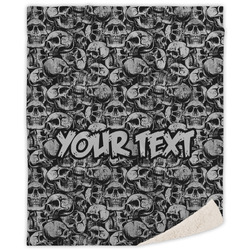 Skulls Sherpa Throw Blanket (Personalized)