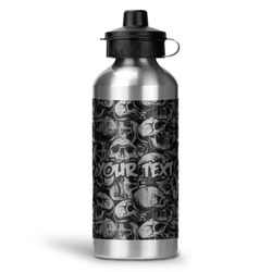 Skulls Water Bottle - Aluminum - 20 oz (Personalized)