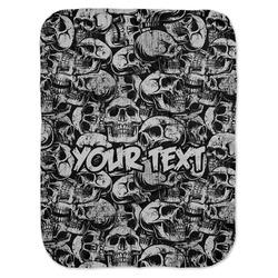 Skulls Baby Swaddling Blanket (Personalized)