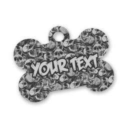 Skulls Bone Shaped Dog Tag (Personalized)
