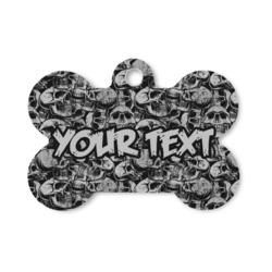 Skulls Bone Shaped Dog ID Tag (Personalized)