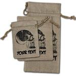 Skulls Burlap Gift Bags (Personalized)