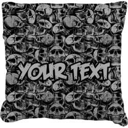 Skulls Faux-Linen Throw Pillow (Personalized)