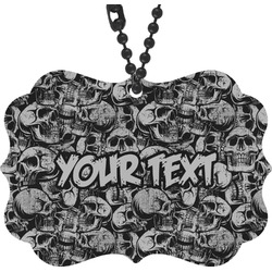 Skulls Rear View Mirror Decor (Personalized)