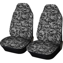 Skulls Car Seat Covers (Set of Two) (Personalized)