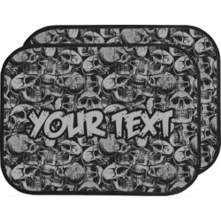 Skulls Car Floor Mats (Back Seat) (Personalized)