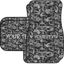Skulls Car Floor Mats (Personalized)