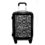 Skulls Carry On Hard Shell Suitcase (Personalized)