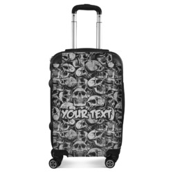 """Skulls Suitcase - 20"""" Carry On (Personalized)"""
