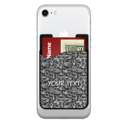 Skulls 2-in-1 Cell Phone Credit Card Holder & Screen Cleaner (Personalized)
