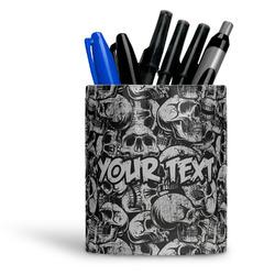 Skulls Ceramic Pen Holder