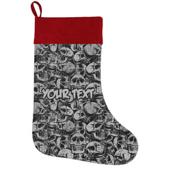 Skulls Holiday Stocking w/ Name or Text