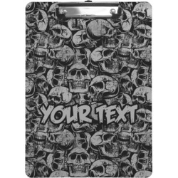 Skulls Clipboard (Personalized)