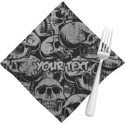 Skulls Napkins (Set of 4) (Personalized)