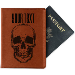 Skulls Leatherette Passport Holder (Personalized)