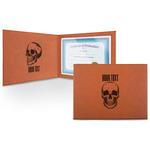 Skulls Leatherette Certificate Holder (Personalized)