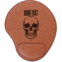 Skulls Leatherette Mouse Pad with Wrist Support (Personalized)