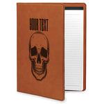 Skulls Leatherette Portfolio with Notepad (Personalized)