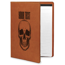 Skulls Leatherette Portfolio with Notepad (Personalized)